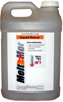 Meltmor liquid deicers is ready to spray for ice melt applications.