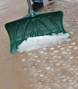 Melt-Mor ice melt products melt ice off sidewalks and driveways.
